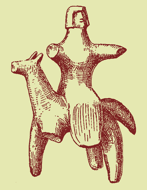 Sidesaddle figure from Lousoi